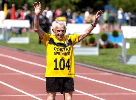 Stanilaw Kowalsky, 104 años, atleta