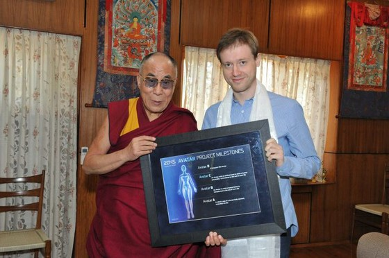 Dalai Lama y Dmitry Itskov